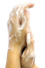 Soap female hands