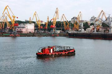 industrial harbor view