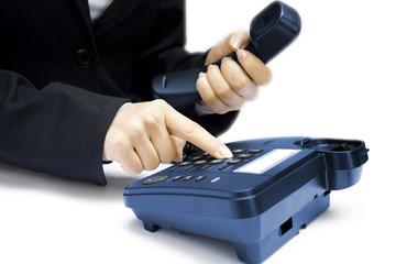 hand pressing key