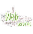 Web Servicess Word Collage