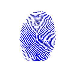 Blue fingerprint vector
