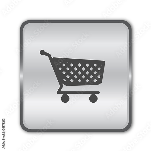 Chrome shopping button vector