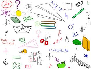 School symbols. Vector