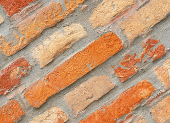Old Brick Wall Close-up - Alte Ziegelstein Mauer