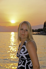 Blonder Teenie am Gardasee, Italy - Lake Garda, Italy