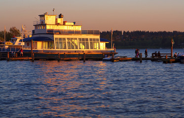Tour Boat at Sunset