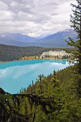 Turquoise water of Lake Louise in Banff National Park, Canada