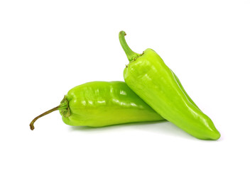 Two Small Green Hot Peppers