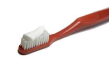 Cepillo de dientes con crema dental