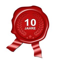 Jubiläum 10 Jahre, plakette Urkunde, siegel