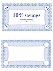 Small Savings Coupon