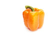 orange pepper isolated on white background