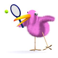 3d Birdy plays tennis