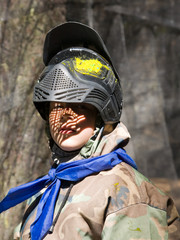 paintball games boy playing war
