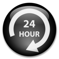 24 HOUR Web Button (7 days opening hours customer service duty)