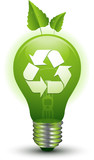 Recycle environment lightbulb poster