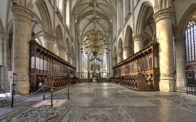 Interior of Dordrecht Cathedral, Holland