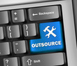 "Keyboard Illustration ""Outsource"""