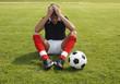 Enttäuschter Fussballer