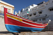 Leinwandbild Motiv Traditional Portuguese fishing boat in Algarve, Portugal