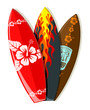 Vector surf boards