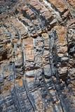 roche grès strate rocher érosion fissure sol falaise poster
