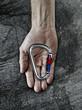 Carabiner in hand