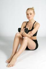 Fitness N&B Haltère