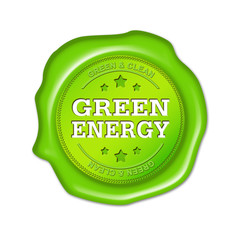 green energy, siegel, button, stempel