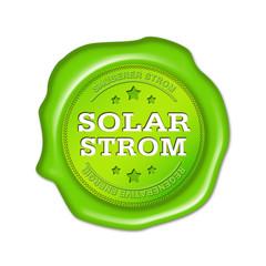 solarstrom, ökostrom, siegel, button, stempel