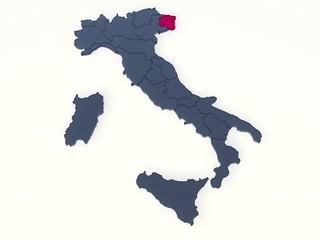 ITALIA REGIONI 3D VETRO - FRIULI VENEZIA GIULIA