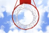 Basket hoop over sky 1