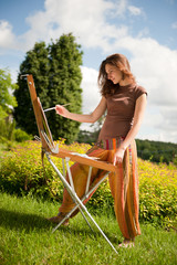 Open air painting