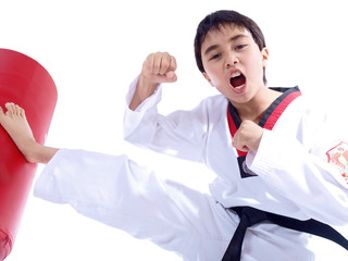 child learning self defense
