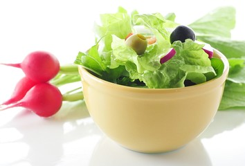 fresh salad with radish