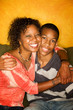 Loving African-American family