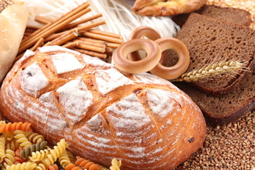 With bakery products