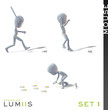 Lumiis 3D-Figuren weiss Maus Set 1