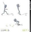 Lumiis 3D-Figuren weiss Maus Set 1