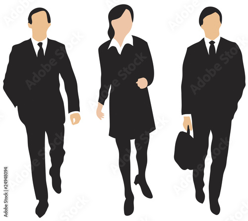 """""""Three business people walking forward"""" Stock image and ..."""