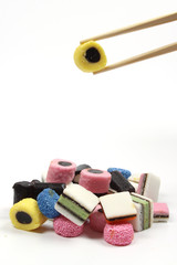 Allsorts liquorice in a chinese way