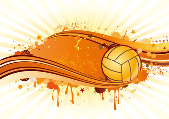 volleyball sport and ink