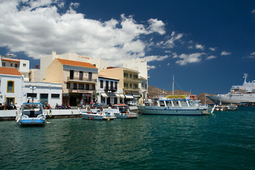 Agios Nikolaos port, Greece, island Crete