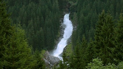 Wasserfall Krimml aus der Entfernung 1