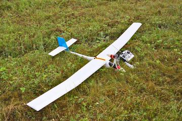 Airplane model landed