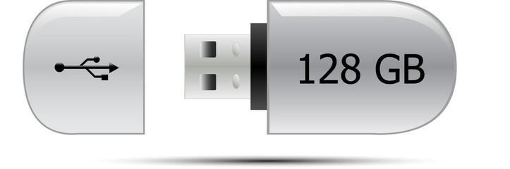USB flash memory drive 128GB