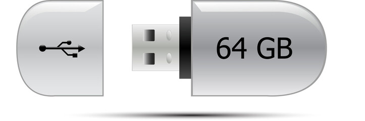 USB flash memory drive 64GB