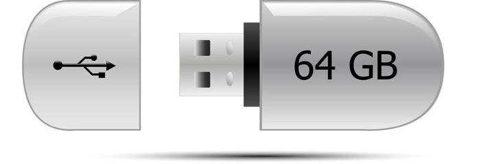 USB flash memory drive 64GB