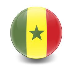 Esfera brillante con bandera Senegal