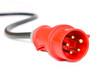 Leinwanddruck Bild - Starkstromstecker und Kabel